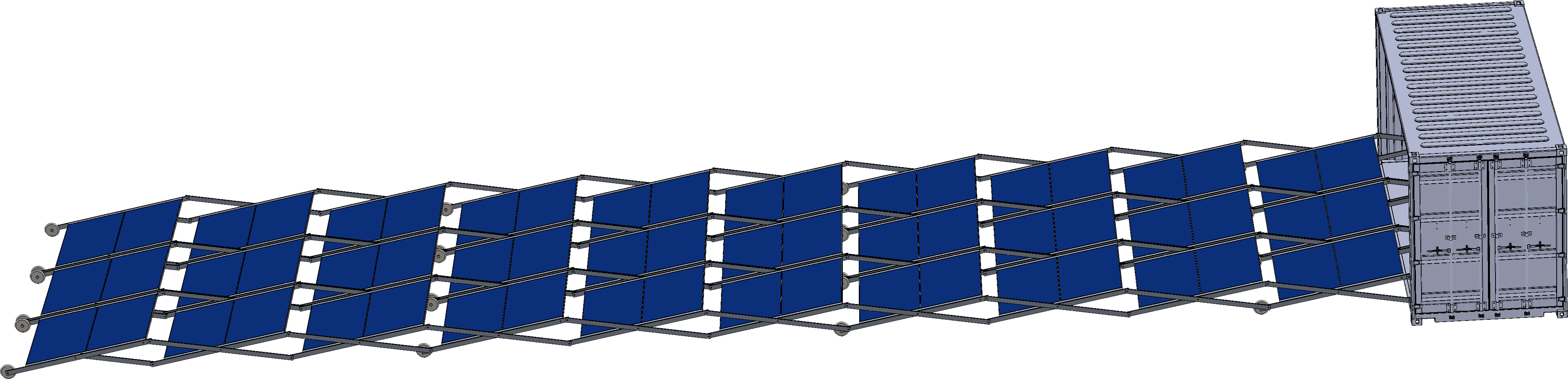Solar Container with manual folding